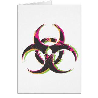 Biohazard grunge carte de vœux