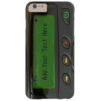 Bipeur drôle personnalisé de la vieille école 90s coque iPhone 6 plus barely there