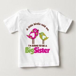 Birdie allant être une grande soeur t-shirt pour bébé