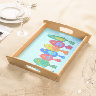 BIRDs on the wire - Serving Tray - Plateau