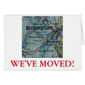 Birmingham nous avons déplacé le faire-part