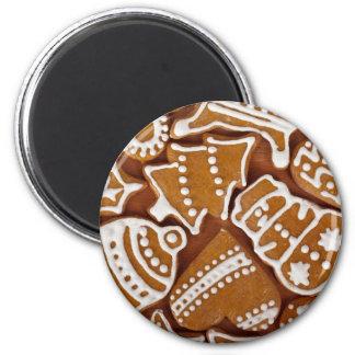 Biscuits de pain d'épice magnets pour réfrigérateur
