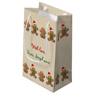 Biscuits doux de pain d'épice petit sac cadeau
