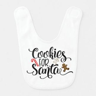Biscuits pour le bavoir de bébé de Père Noël