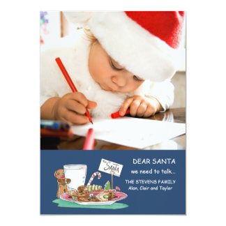 Biscuits pour le carte photo de Père Noël