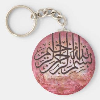 Bismillah - art ORIGINAL Porte-clé Rond