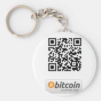 Bitcoin a accepté ici porte-clé rond