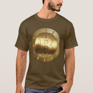 Bitcoin dans le T-shirt de conception de fine