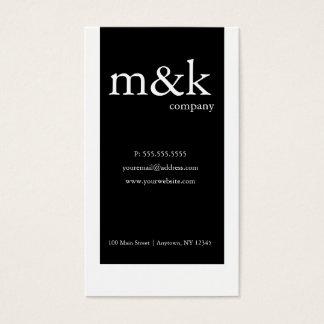 Black & White Vertical Company ou personnel Cartes De Visite