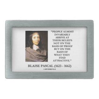 Blaise Pascal arrivent à la base de croyances Boucle De Ceinture Rectangulaire