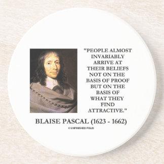 Blaise Pascal arrivent à la base de croyances Dessous De Verre En Grès
