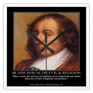 Blaise Pascal et horloge murale mauvaise