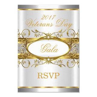 Blanc d'argent d'or de RSVP et partie de plaque Carton D'invitation 8,89 Cm X 12,70 Cm