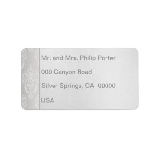 Blanc de damassé étiquettes d'adresse