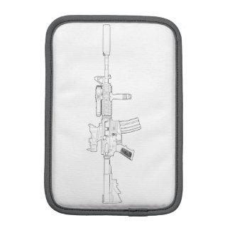 Blanc de M4 SOPMOD carrelé Housses Pour iPad Mini