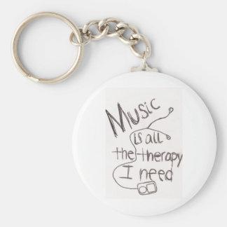 blanc de musicothérapie porte-clés