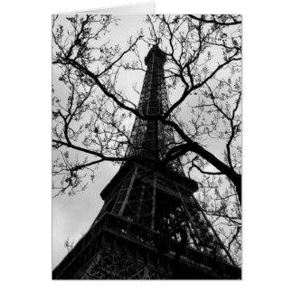 Blanc de Paris de Tour Eiffel toutes les Carte De Vœux