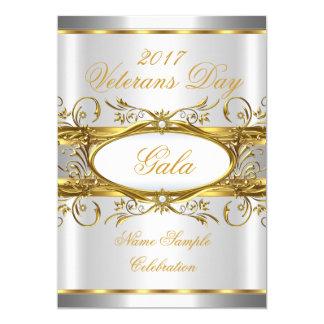 Blanc d'or et partie argentés de plaque d'or carton d'invitation  12,7 cm x 17,78 cm