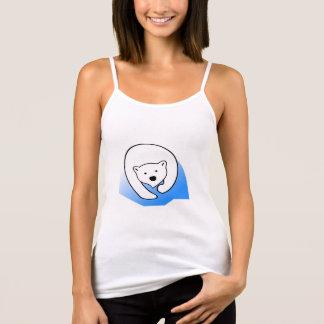 Blanc du débardeur des femmes - ours blanc