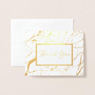Blanc et carte pliée par Merci de marbre d'or