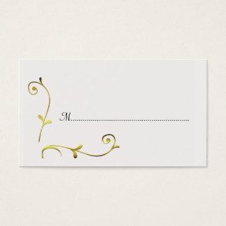 Blanc et cartes de place de réception de mariage carte de visite standard