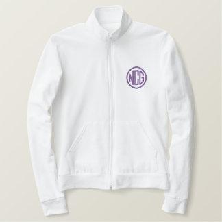 Blanc et veste de monogramme brodée par pourpre