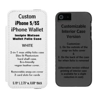 BLANC fait sur commande de caisse de folio de Coque-portefeuille iPhone 5 Incipio Watson™