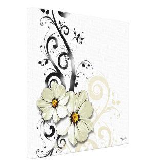 Blanc floral fleuri du Flourish | Toiles