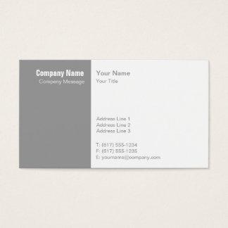 Blanc gris simple cartes de visite
