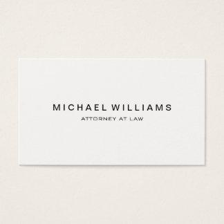 Blanc moderne minimaliste professionnel cartes de visite