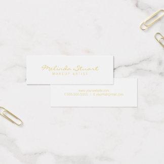 Blanc moderne simple professionnel et or mini carte de visite