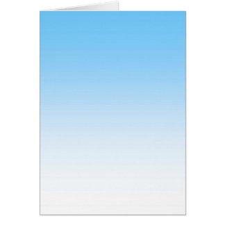 Blanc Ombre de bleu de ciel Carte De Vœux