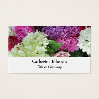 Blanc professionnel de fleuriste assez élégant de cartes de visite
