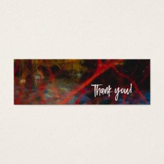 Blanc rouge de carte de remerciements d'art de