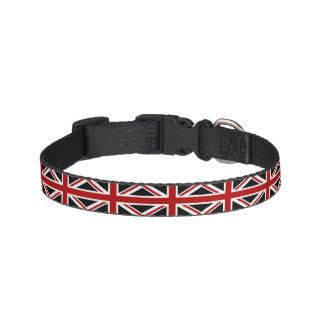 Blanc rouge de noir de drapeau de l'Angleterre Colliers De Chiens
