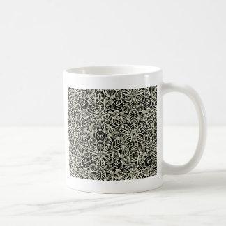 Blanc sur la copie noire de kaléidoscope mug