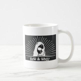 Blanc sur 'ReW noir et qui ? ' Mug Blanc