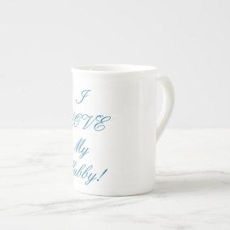 Blanc, tasse de porcelaine tendre