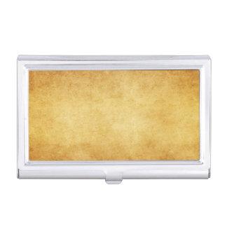 Blanc vintage de papier d'antiquité de parchemin porte-cartes de visite