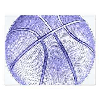 Blauw Basketbal Kaart