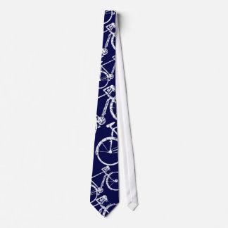 blauw cyclusstropdas voor fiets-minnaars persoonlijke stropdassen
