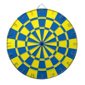 Blauw en Geel Dartbord