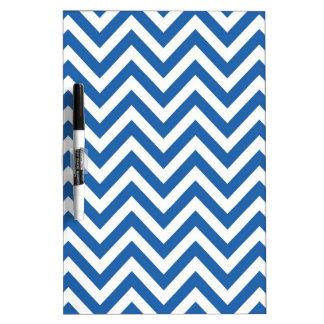 Blauw en Wit de zigzagPatroon van de Chevron Whiteboard