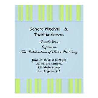 blauw geelgroen gestreept huwelijk persoonlijke folder