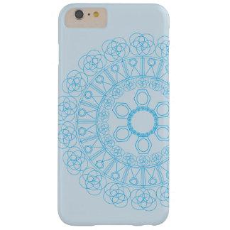 Blauw patroon van eindeloze cirkel en vormen barely there iPhone 6 plus hoesje