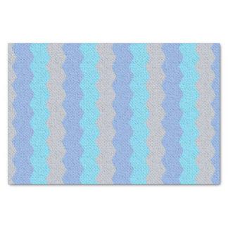Blauwe en grijze chevron de van Aqua, Tissuepapier
