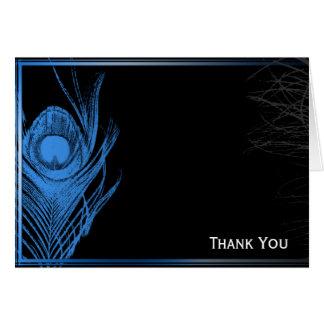 Blauwe en Zwarte Pauw Briefkaarten 0
