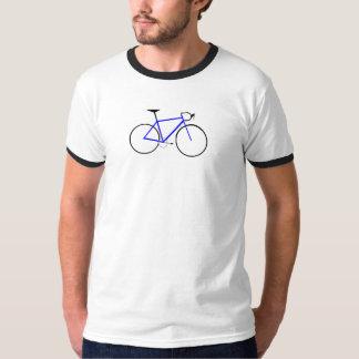 blauwe fiets t shirt