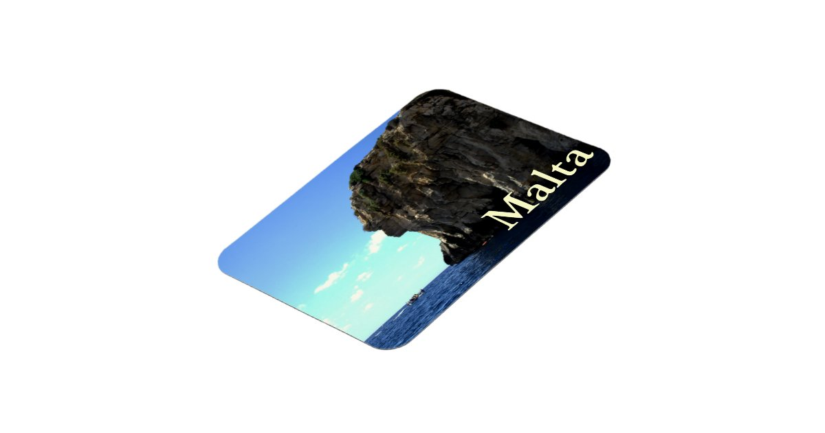 Blauwe grot malta flexibele magneten zazzle - Grot ontwerp ...