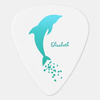 Blauwe het Springen Dolfijn met de Oogst van de Gitaar Plectrum 0
